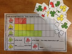 Are you ready for St. Patrick's Day?  This Celebration Grab and Graph pack has 2 graphing centers for Hallowe'en, Thanksgiving, Christmas, Valentine's Day, St. Patrick's Day and Easter.  You will be ready for a center for every celebration of the school year!