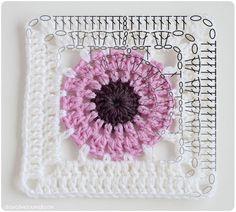 Crochet - Squa res Thoughts ... - Paeonia square scheme