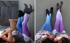 DIY Ombre Tights! I think my daughter would love these and way cheaper than the ones at Anthropologie.