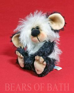 Jing a 5.5 inch Faux Fur and Mohair Artist Panda Bear by Bears of Bath #BearsofBath Panda Bear, Faux Fur, Bears, Teddy Bear, Artist, Animals, Animales, Animaux, Artists