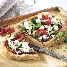 Turkse pizza met fetakaas