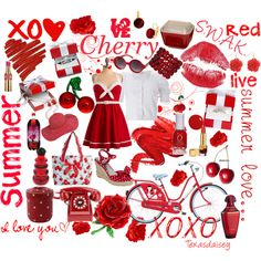 Cherry Red, created by texasdaisey on Polyvore