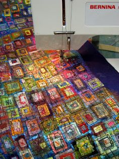 """Art In Stitches: How to Make an """"In Box""""great tutorial on melting and burning... like workshop with Gordana Brelih from Oakville/ Toronto area If you appreciate arts and crafts a person will enjoy this website!"""