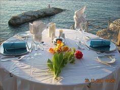 Beautiful view at Aquis Silva Beach! Beach Hotels, Greek Recipes, Table Settings, Table Decorations, Beautiful, Home Decor, Decoration Home, Room Decor, Greek Food Recipes