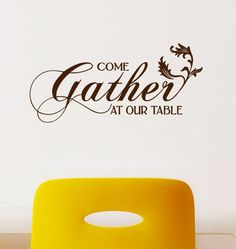 Thanksgiving decor Kitchen Wall Decal  Come by HouseHoldWords, $19.00
