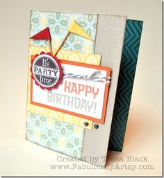 Chantilly paper pack with Perfect Fit - Birthday stamp sets. Created by Tresa Black.