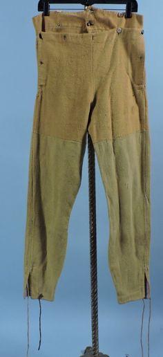 So RARE 1820 1840 Men's Mustard Homespun Under Breeches w Fall Front | eBay
