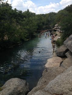 Swimming holes in Central Texas. FREE vacation fun. Jacob's Well in Wimberley