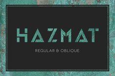 HAZMAT Stencil Typeface by Little Fonts on @creativemarket