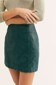Modern Femme Vegan Suede Mini Skirt | Free People