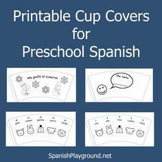 Preschool Spanish Students Love To Color These Free Printable Cup Covers Four Designs With Simple