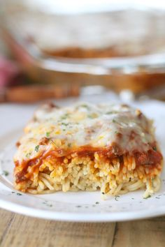 This recipe for Easy Baked Spaghetti also known as Spasagna is inspired by my favorite meal at Cheddar's restaurant. This is a simple but yummy version!