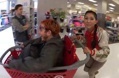 Mari and LaserCorn in Target.