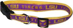 Pets First Collegiate LSU Tigers Pet Collar, Small -- Find out more about the great product at the image link. (This is an affiliate link and I receive a commission for the sales)