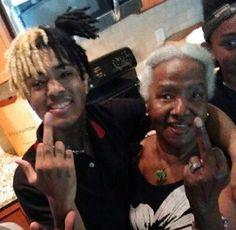 XXXTentacion and his grandmother.