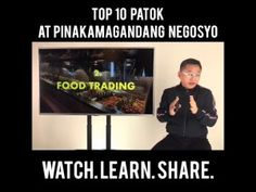 NEGOSYO TIPS: TOP 10 PATOK AT PINAKA MAGANDANG NEGOSYO Pinoy, Online Courses, Learning, Business, Tips, Studying, Teaching, Store, Business Illustration