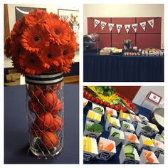 Basketball Banquet Centerpieces | Basketball Party | Grad Party Ideas
