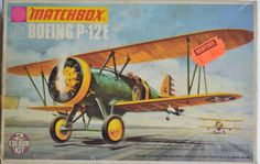 Boeing P12 E, Third Matchbox Kit. PK-03. Artwork: Roy Huxley.