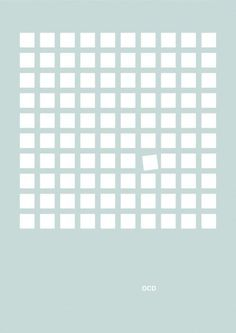 OCD: Obsessive-Compulsive Disorder (Mental disorders get minimalist treatment without being minimalized) Mental Health Posters, Poster Minimalista, Web Design Mobile, Obsessive Compulsive Disorder, Poster Series, Mental Disorders, Anxiety Disorder, Minimalist Poster, Minimalist Art