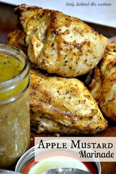Apple mustard chicken marinade