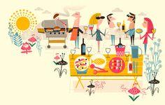 "Check out this @Behance project: ""Waitrose illustrations"" https://www.behance.net/gallery/40665113/Waitrose-illustrations"