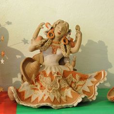 Mexican Woman Pottery Oaxaca   by Teyacapan