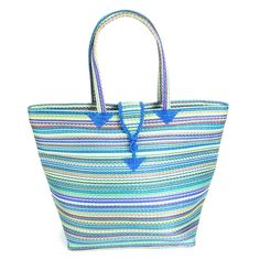 This hand-woven tote bag will give you a chic and artistic look.
