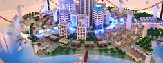 Smart Grid City Building Paper Craft