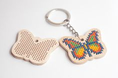 DIY kit - supplies for stitching butterfly shape