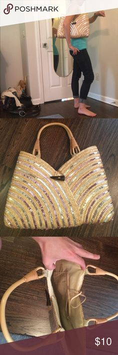 Sequined summer purse Fun summer purse!!! Bags Totes