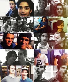 Tyler Posey and Dylan O'Brien the second one from the top on the right is my absolute favorite!