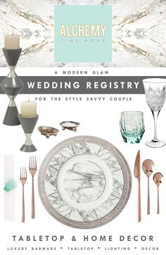 :: ALCHEMY FINE HOME :: A modern glam wedding registry for the style savvy couple. Luxury tabletop, barware, home decor & lighting. Register for what you really want.