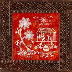 230 x 228 Poster Rangoli, Worli Painting, Indian Folk Art, Indian Art Paintings, Madhubani Painting, Mural Art, Murals, Art N Craft, Aboriginal Art
