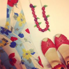 Cherries, flowers & gorgeous shoes @ HIPPO! Royale https://www.facebook.com/HIPPOROYALE