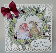 House mouse Christmas card-it doesn't get much sweeter than this!
