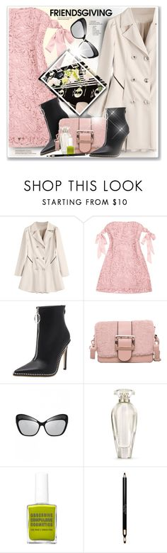 """""""Gather 'Round: Friendsgiving"""" by sneky ❤ liked on Polyvore featuring Victoria's Secret, Clarins and friendsgiving"""