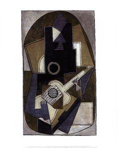 L'Homme a la Guitare, 1918 by Pablo Picasso art print