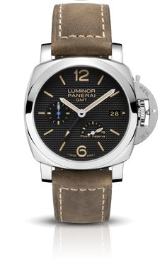 PAM01537 Luminor 1950 3 Days GMT Power Reserve Automatic Acciaio - 42mm, Luminor 1950 Panerai: Movement:Automatic mechanical, P.9012 calibre, executed ent...