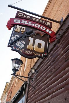 Old Style Saloon No.10 ..... Deadwood, South Dakota.  Actual site of the shooting death of Wild Bill Hickock during a poker game.  They say the place is haunted by him and the ladies in the upstairs brothel.