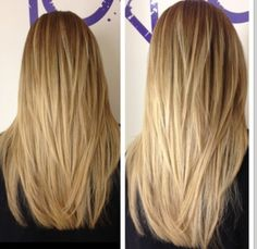 This is a gorgeous long layered haircut!  Would love to do this one on myself next time!