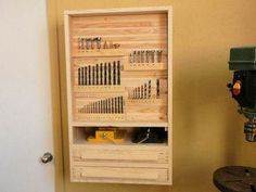 This is a drill bit organizing cabinet. I would love to have one of these next to my drill press.