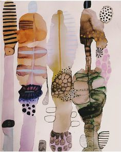 + c u l t o f ʍ o ɹ ɹ o ɯ o ʇ + — vjeranski: Emma Larsson - Crafting - kunst Abstract Watercolor Art, Watercolor And Ink, Watercolor Paintings, Sgraffito, Painting Inspiration, Art Inspo, Creation Art, Art Sculpture, Art Plastique