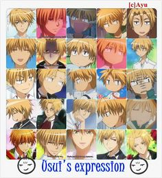 Las mil expresiones de Usui jajaja` Kaichou wa Maid-sama!, Usui Takumi