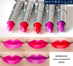 maybelline lipstick colors | Maybelline Color Sensational Vivids Lipstick Swatches | Makeup