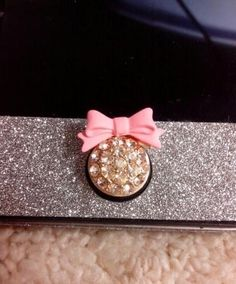 Sticker iPhone 4/4s/5 sticker bow and glitter home button 147  from Socishop