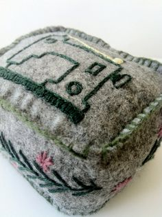 Sewing Machine Embroidered Pincushion