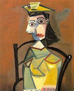 Femme au chapeau assise dans un fauteuil - Picasso - 1942