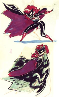 Batwoman designs by Guilllame Singelin