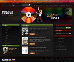 CD DVD ZenCart Templates by Svelte