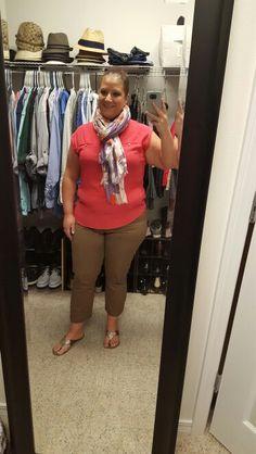 9.17.15, Ann Taylor scarf, NY & Co shirt and pants